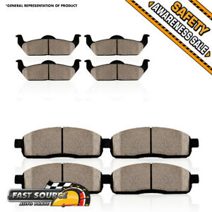 Front Rear Ceramic Brake Pads Fit Ford Fusion Lincoln Mkz