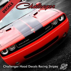 Dodge Challenger Hood Stripes Decals Pre Cut Fits 2008 To 2014 Models 9