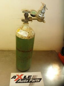 Green Oxygen Welding Cutting Torch Tank W L tec Regulator Valve