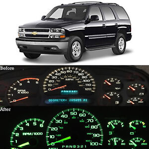 Green Led Dash Cluster Instrument Gauge Replacement Light Kit Fits 00 02 Tahoe