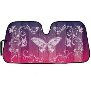 Purple Butterfly Auto Car Sun Shade Front Windshield Window Uv Protection Truck