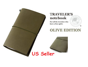 2017 Olive Edition Midori Travelers Notebook Leather Cover Regular Size