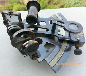 Collectibles German Marine Sextant Nautical Brass Antique Solid Brass Working