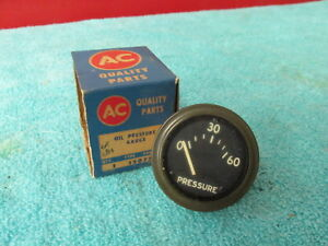 Vintage Chevy Army Jeep Willys Gpw Truck Ratrod Oil Pressure Gauge Nos Ac 418