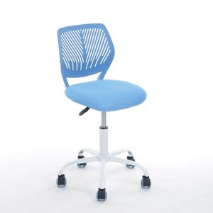 Blue Office Task Adjustable Desk Chair Mid Back Home Children Study Chairs Compu