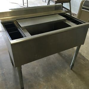 Eagle Underbar Stainless Steel Underbar Ice Bin With Cold Plate And Dispenser