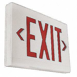 Hubbell Dual lite Led Red Emergency Exit Sign Lxurwe Wall Mount Fast Ship H31