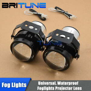 Universal 2 5 Hid Bi Xenon Fog Lights Driving Lamps H11 Projector Lens Tuning