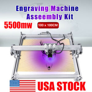5500mw 100 100cm Laser Engraving Marking Machine Printer Engraver Cutter