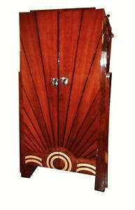 Spectacular Art Deco Style Cabinet Bookcase Bar