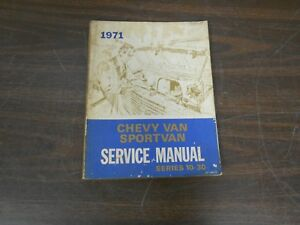 1971 Chevy Van And Sport Van Chassis Service Manual Book 518