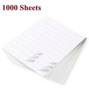 1 x2 5 8 Self Adhesive Mailing Shipping Address Labels 1000 Sheets Laser Inkjet