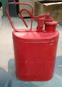 Vintage Eagle No 1401 Laboratory Safety Gas Can Red Coated Metal 1 Gal