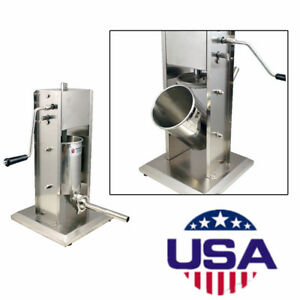Vertical Commercial Sausage Stuffer 11lb Stainless Steel Meat Press Pound Filler