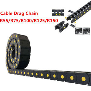 R55 r150 25 X 57mm Cable Drag Chain Bridge Open Type Wire Carrier Nylon66 1m 40