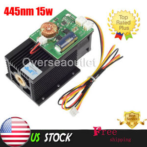 450nm 445nm 15w 15000mw High power Blue Laser Diode Module Engraving Wood Metal