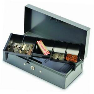Steelmaster Locking Steel Bond Box With Cash Tray Includes Keys Gray