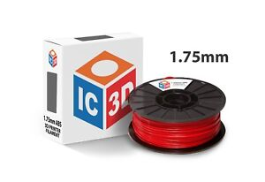 Ic3d 1 75mm 2 2lb 1kg Red Abs 3d Printer Filament Made In Usa