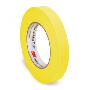 3m 6653 Automotive Refinish Yellow Masking Tape 24 Mm X 55 M Case 36 Rolls