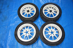 Jdm 16 Enkei Sport Competition Wheels Rims Mags 16x7 Offset 45 5x100