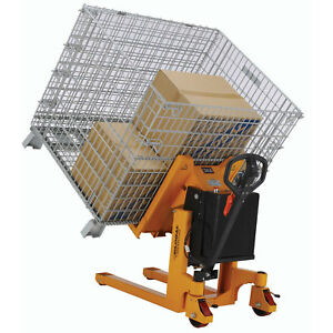 Portable Container Pallet Skid Tilterm Battery Powered 2200 Lb Capacity
