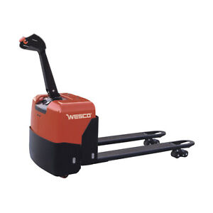 Wesco 174 Deluxe Self propelled Electric Power Pallet Truck 3300 Lb Lot Of