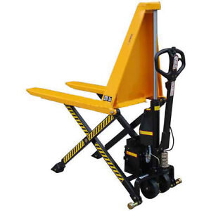 Wesco Non telescoping Electric High Lift Pallet Truck 2200 Lb 21 Forks Lot