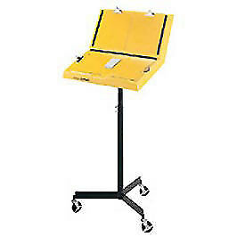 Hubbell Standard Single Leg Document Stand 26 w X 13 d X 38 h Yellow Lot Of 1