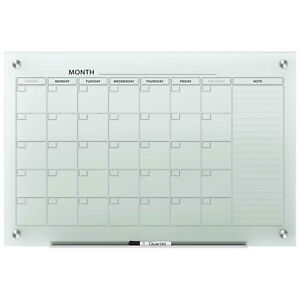 Quartet Infinity Glass Magnetic Calendar Board Frosted 36 X 24 Lot Of 2