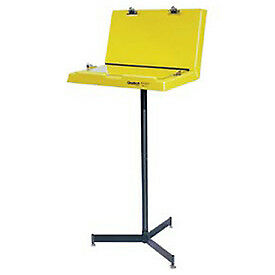 Hubbell Document Stand With Two Panels 26 w X 20 d X 61 h Yellow