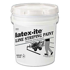 Latex ite 174 5030 5 Gal Line Striping Paint Lead free Fast Dry White 1