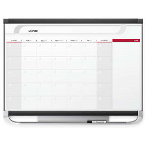 Quartet Magnetic Monthly Calendar Board White 36 X 24 Lot Of 1