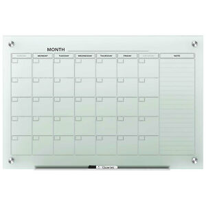 Quartet Infinity Glass Magnetic Calendar Board Frosted 48 X 36 Lot Of 1