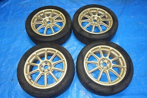 Jdm O Z As7 Racing Prodrive Rims Wheels Mags 5x100 17x7 52 Oz