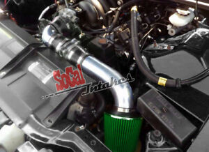 Black Green 2pc Cold Air Intake Kit Filter For 94 97 Chevy Camaro Z28 5 7l