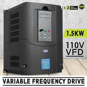 1 5kw 110v Variable Frequency Drive 2hp Vfd Perfect Motor Avr Cnc Control Great