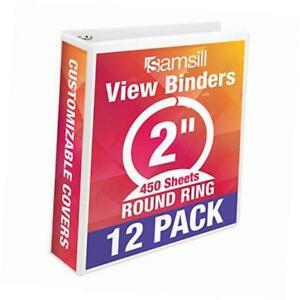 Economy 3 Ring View Binders 2 Inch Round Ring Customizable Clear View Cover