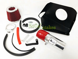 Black Red Heat Shield Cold Air Intake Kit For 2007 2012 Nissan Altima 3 5l V6