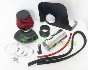 Red Heat Shield Cold Air Intake Kit For 2004 2007 Cadillac Cts V V8 Engine