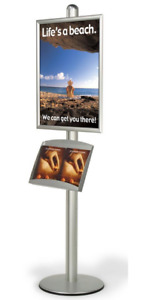 Single Pocket 22 X 28 Poster Display Stand Snap Open Frame Literature Tray