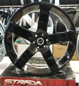 28 Inch Strada Rims Wheel Only Fit Chevy Gmc Ford Cadillac Infiniti Nissan