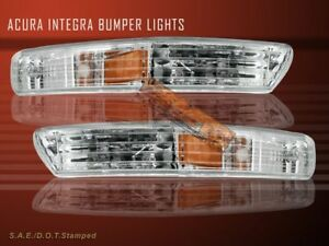 Fit For 98 99 00 01 Acura Integra Clear Signal Bumper Lights
