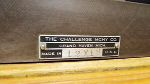 Challenge Machinery Co cast Iron Machinist Inspection Surface Plate 12 X 18 usa