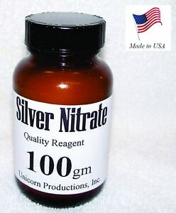 Silver Nitrate Made From 99 99 Silver Reagent 100 Grams Agno3 Cas 7761 88 8