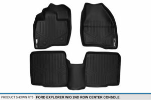 2015 2017 Ford Explorer W o 2nd Row Console Black 1st 2nd Row Floor Mats