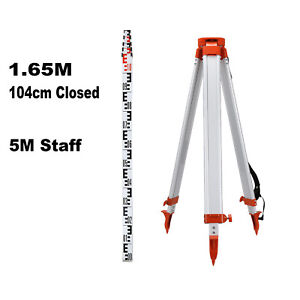 1 65m Aluminum Tripod 5m Staff Kit For Laser Level Transits Auto Levels