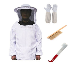 Beekeeping Starter Kit Supplies Tool Set Suit Costume Bee Hive Brush Gloves New