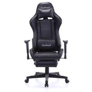 Racing Chair Pu Leather High back Ergonomic Computer Chair Swivel Office Task