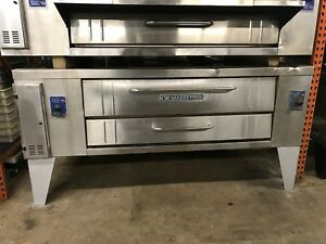 Y 800 Bakers Pride Pizza Oven 120 000 Btu Natural Gas Works Good