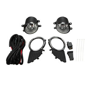 Bumper Driving Fog Lights Lamps W Switch wiring Kit Set Fit 11 17 Toyota Sienna
